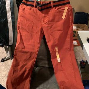 Urban Pipeline Men's orange slacks.